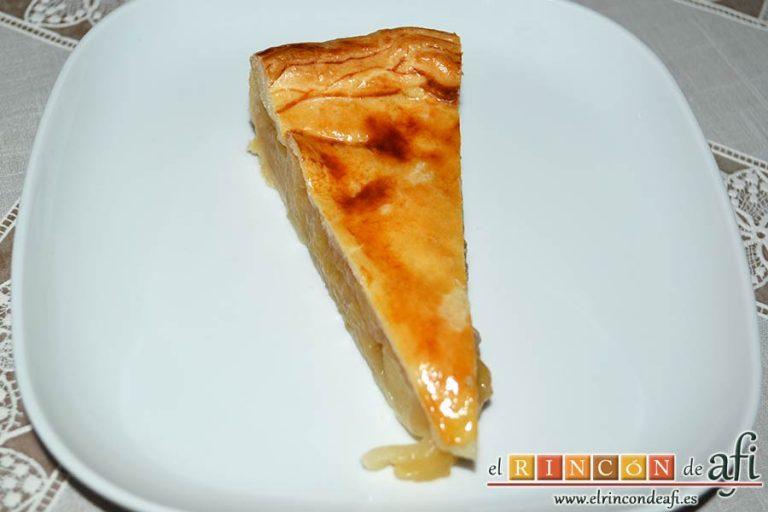 Tarta de manzana del Oso Yogui, sugerencia de presentación