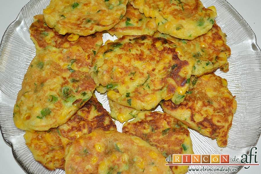 Tortitas de maíz, reservar