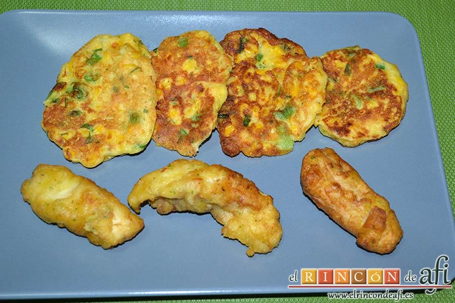 Tortitas de maíz, sugerencia de presentación