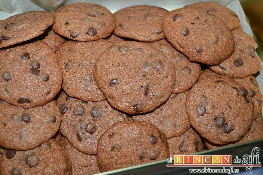Galletas con doble chocolate chips caseras
