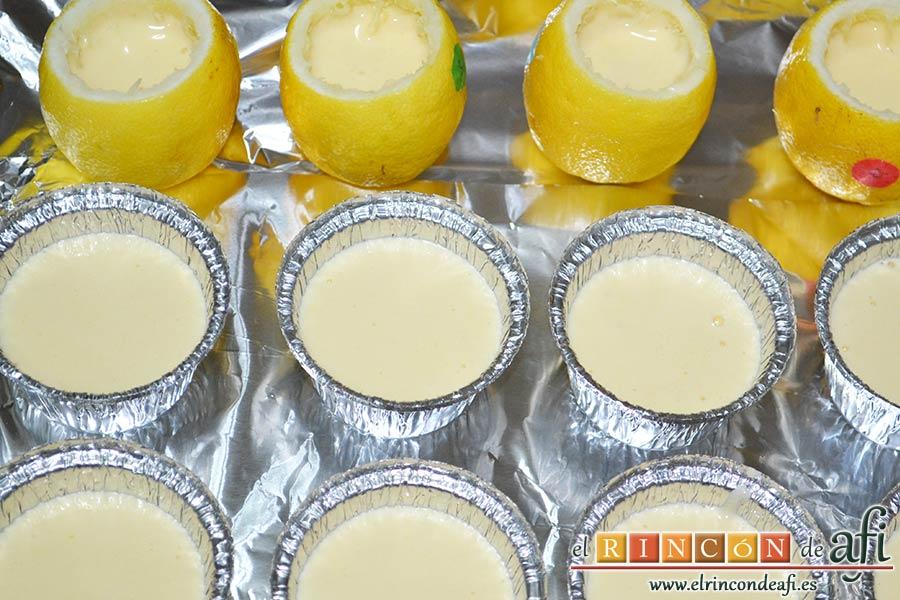 Pastelitos de limón, puedes usar otros recipientes tambiénPastelitos de limón, puedes usar otros recipientes también