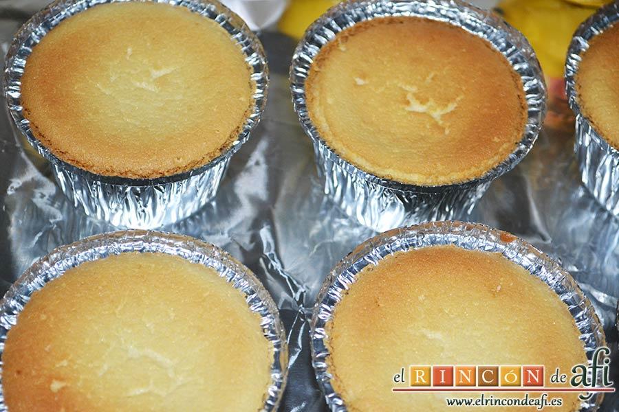 Pastelitos de limón, sugerencia de presentación