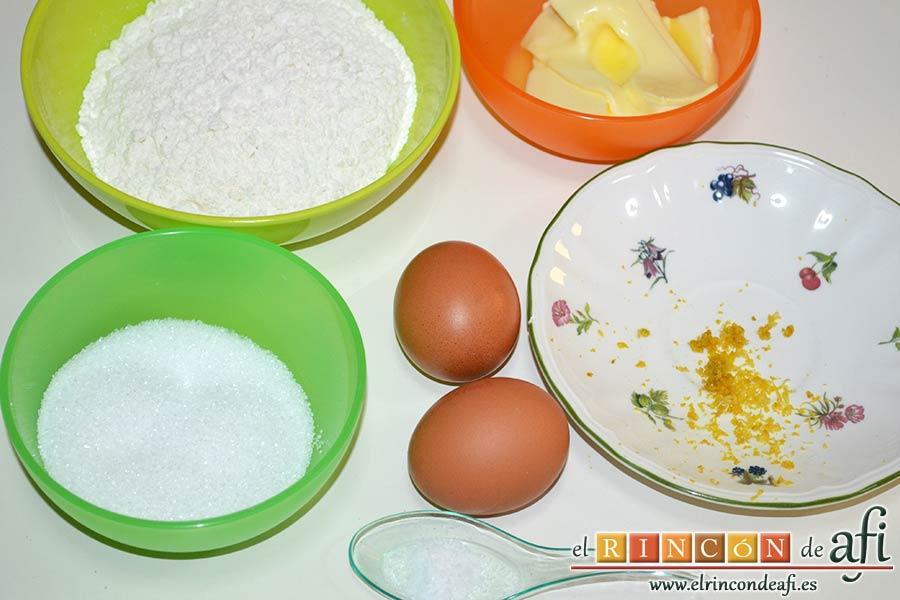 Galletas muselina, preparar los ingredientes