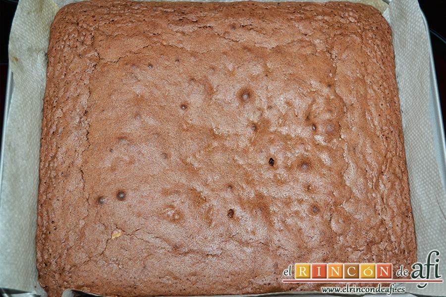 Brownie exprés, sugerencia de presentación