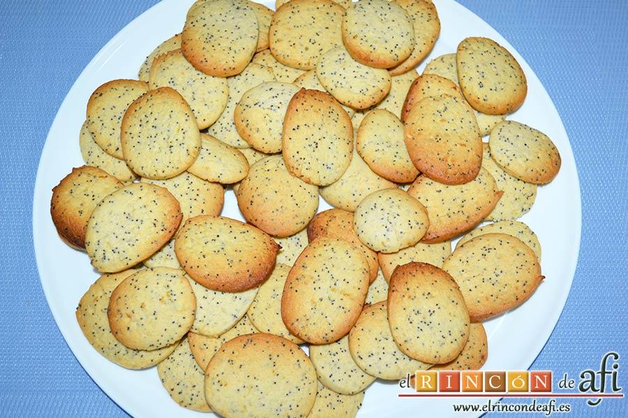 Galletas de limón con semillas de amapola
