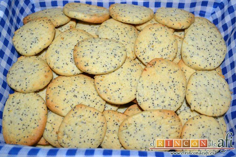Galletas de limón con semillas de amapola, sugerencia de presentación