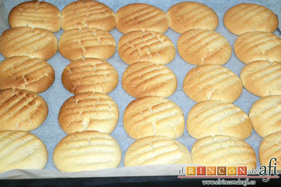 Galletas de pasta de sésamo, hornear