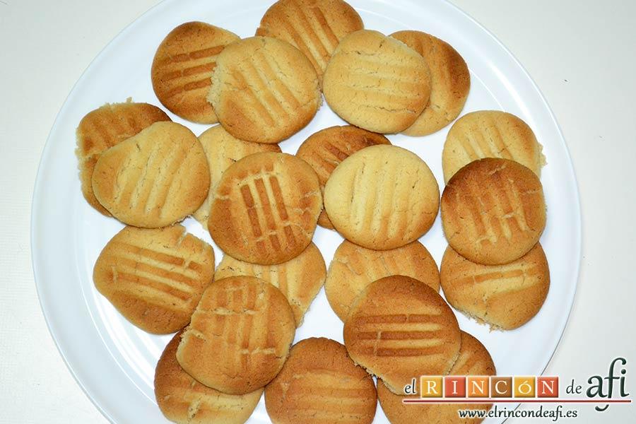 Galletas de pasta de sésamo, sugerencia de presentación