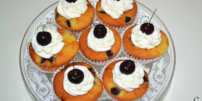 Cupcakes de cerezas al Kirsch