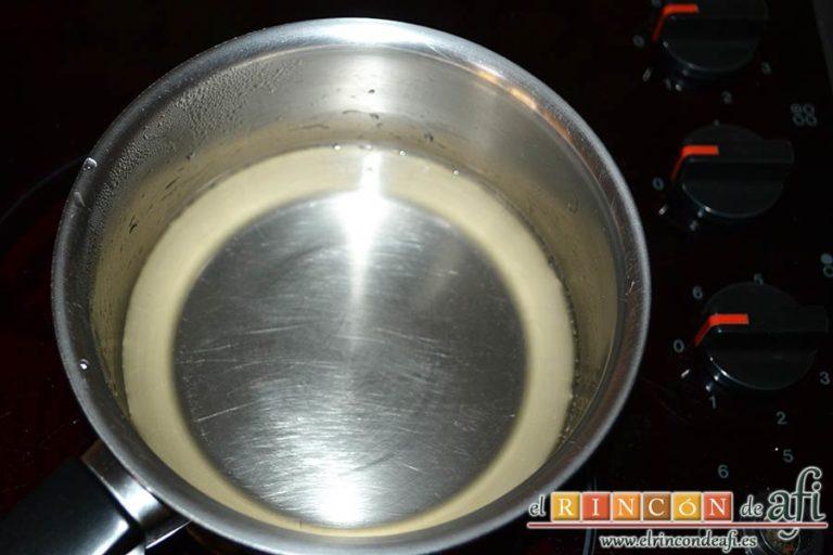Cupcakes de cerezas al Kirsch, remover hasta que el azúcar esté disuelto