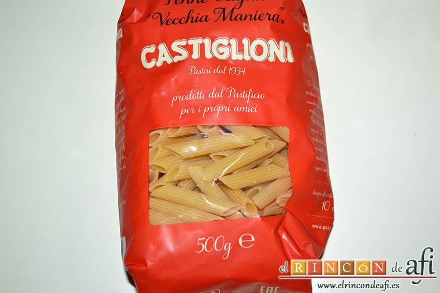 Macarrones del Cardenal, preparar la pasta