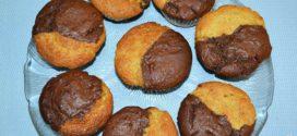 Muffins de dos colores de vainilla y chocolate