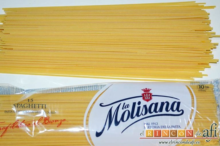 Espaguetis al limón, preparar los espaguetis