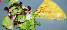 Tortilla de bacalao y puerros