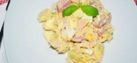 Ensalada de papas con salsa tártara