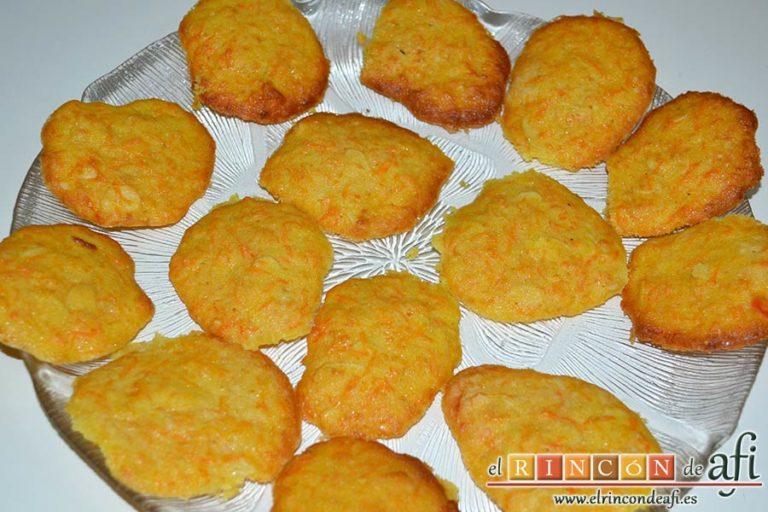 Galletas de zanahoria con almendras, sugerencia de presentación
