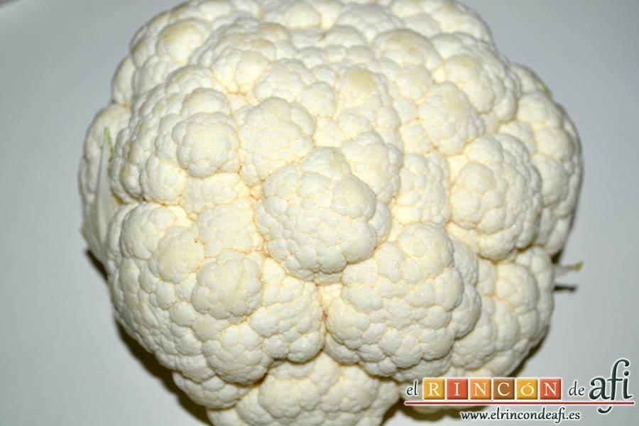 Tortitas de coliflor, preparar la coliflor