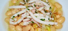 Alubias blancas con calamares