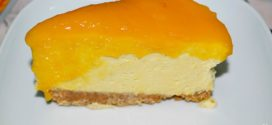 Tarta de mousse de mango con gelée