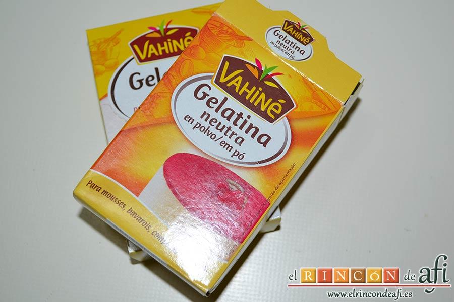 Tarta de mousse de mango con gelée, preparar la gelatina neutra