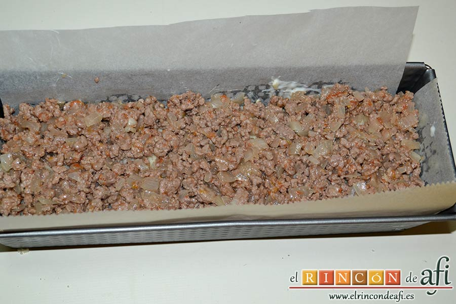 Croque cake de berenjenas, poner una capa de fritura