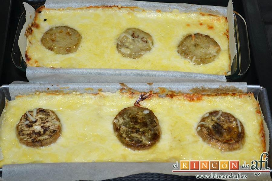 Croque cake de berenjenas, hornear