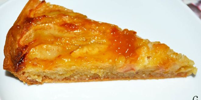 Tarta de pera y crema frangipane