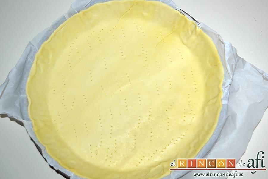 Tarta de pera y crema frangipane, preparar la masa quebrada para hornear
