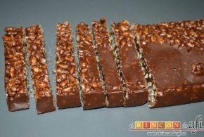 Turrón de chocolate con arroz inflado