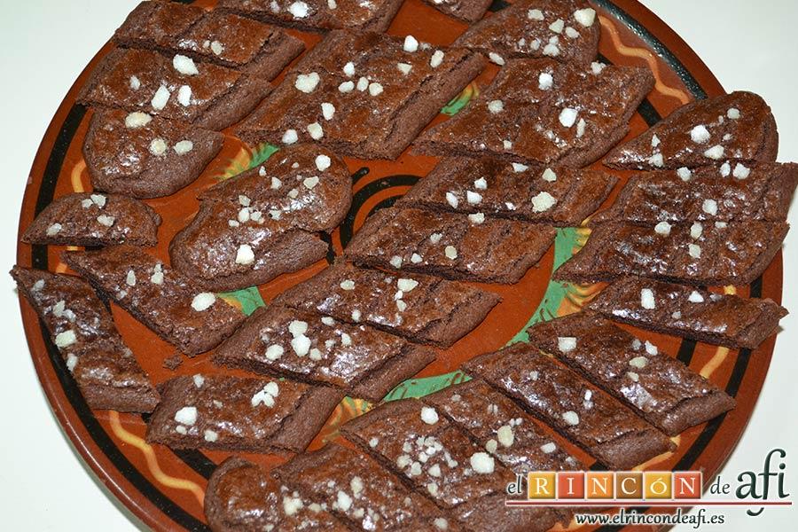Galletas de mantequilla al chocolate, dejar enfriar por completo