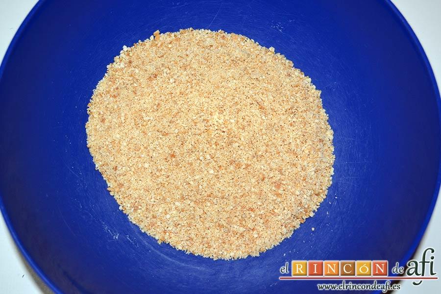 Tarta de queso con harina de fécula de maíz y mermelada de ciruelas rojas casera, ponerlas en un bol