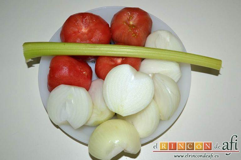 Acquacotta, preparar las verduras