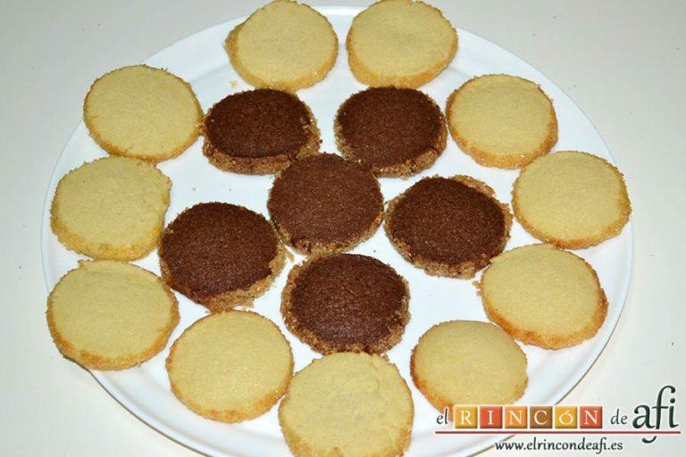 Galletas crujientes de mantequilla, sugerencia de presentación