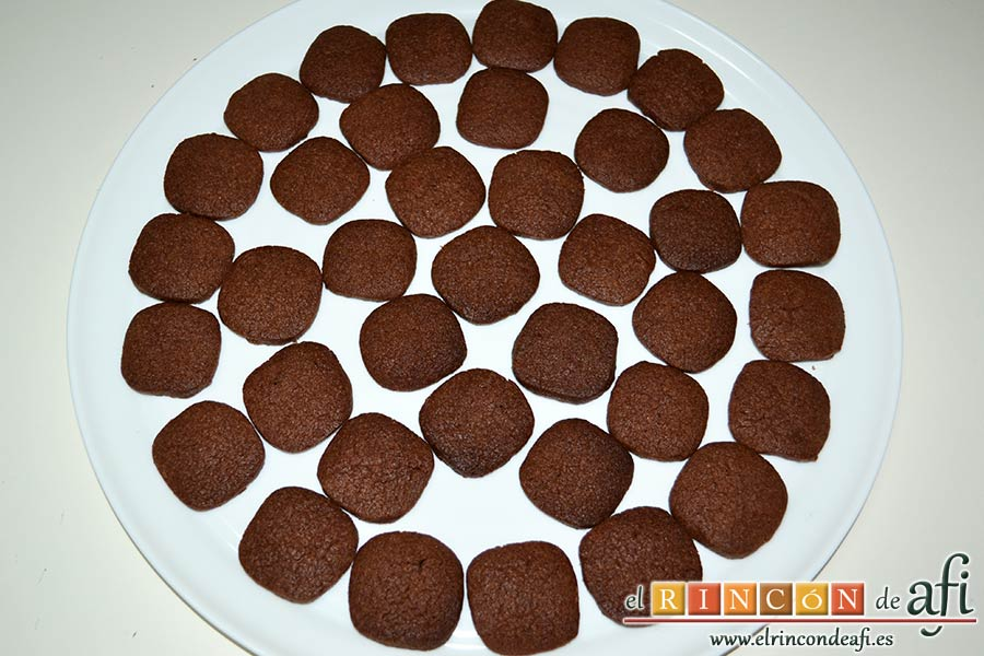 Galletas de chocolate y mantequilla, sugerencia de presentación
