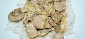 Tacos de solomillo de cerdo con salsa de champiñones Portobello
