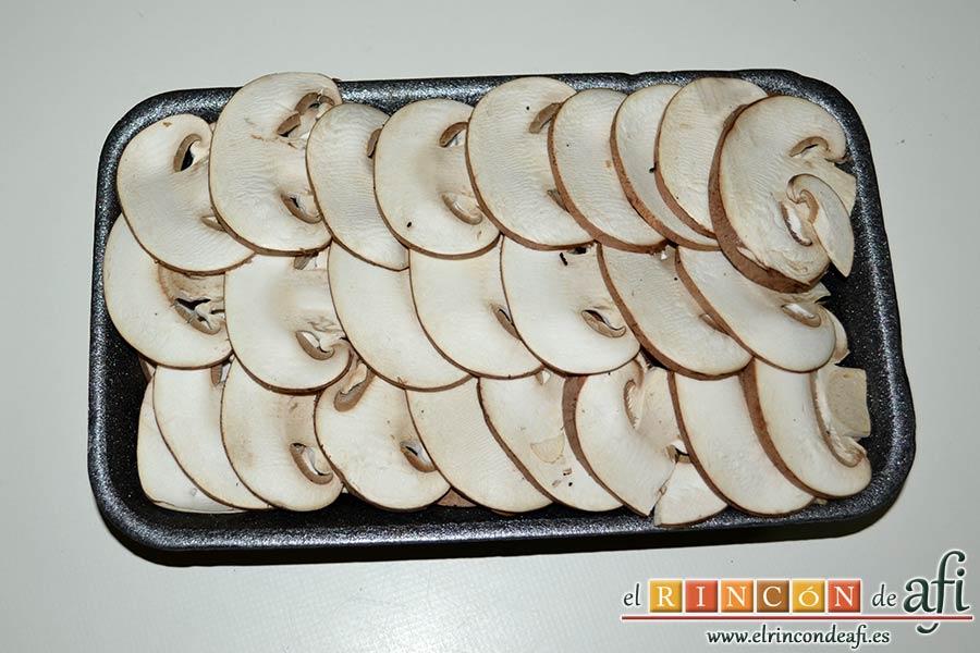 Tacos de solomillo de cerdo con salsa de champiñones Portobello, preparar los champiñones