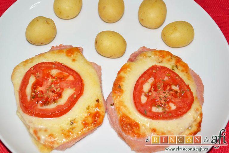 Chuletas de Sajonia al horno, sugerencia de presentación
