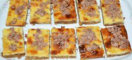 Tarta de queso y lima en barritas