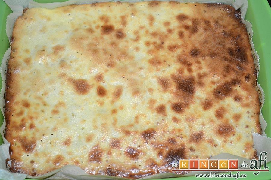Tarta de queso y lima en barritas, hornear