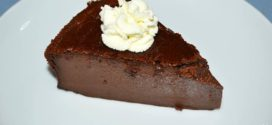 Flan de chocolate al horno