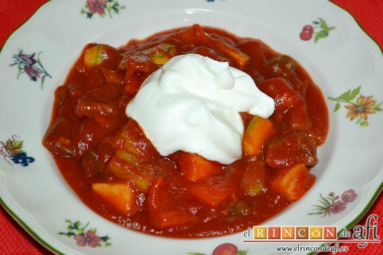 Pisto de verduras a la turca, sugerencia de presentación