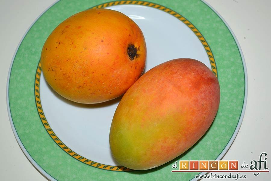 Chutney de mango, preparar los mangos