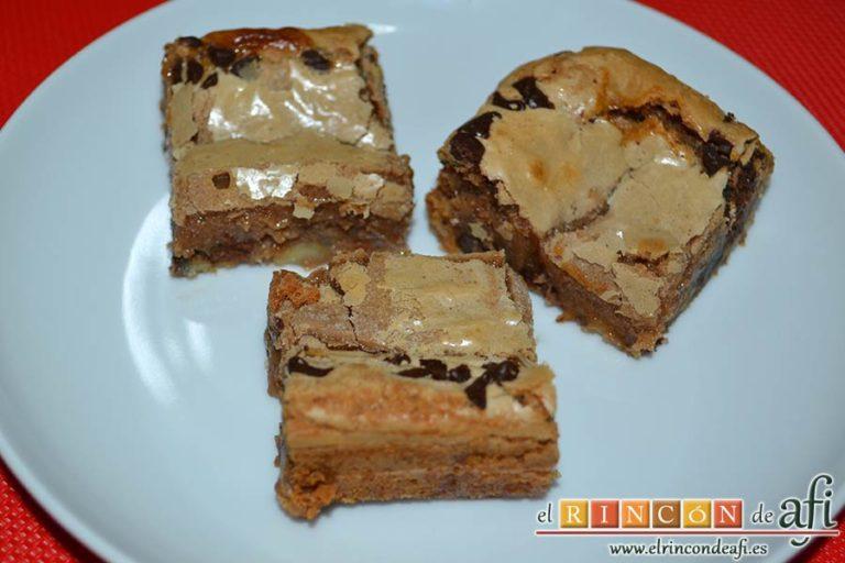 Brownie de leche condensada, sugerencia de presentación