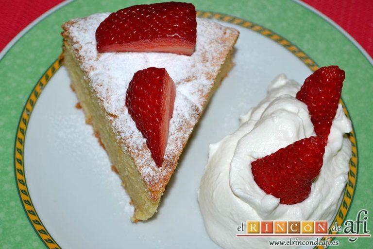 Gâteau de almendra, sugerencia de presentación