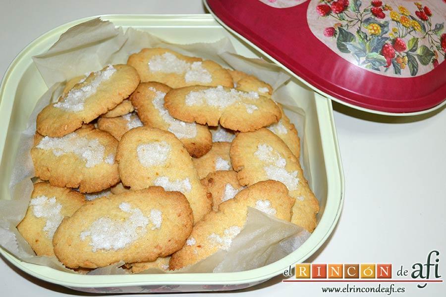 Pastas de almendra de Robledo del Mazo, sugerencia de presentación
