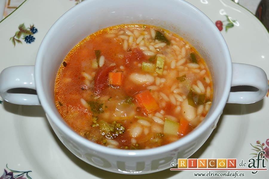 Sopa minestrone estilo El Padrino