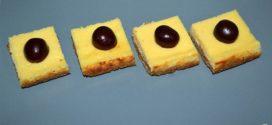 Cuadrados de tarta de queso