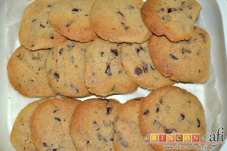 Galletas con chispas de chocolate, sugerencia de presentación