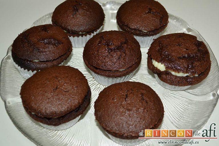 Crema de chocolate blanco al microondas, sugerencia de presentación