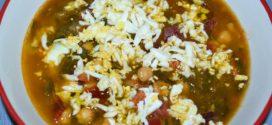 Sopa española de garbanzos y chorizo de Jamie Oliver